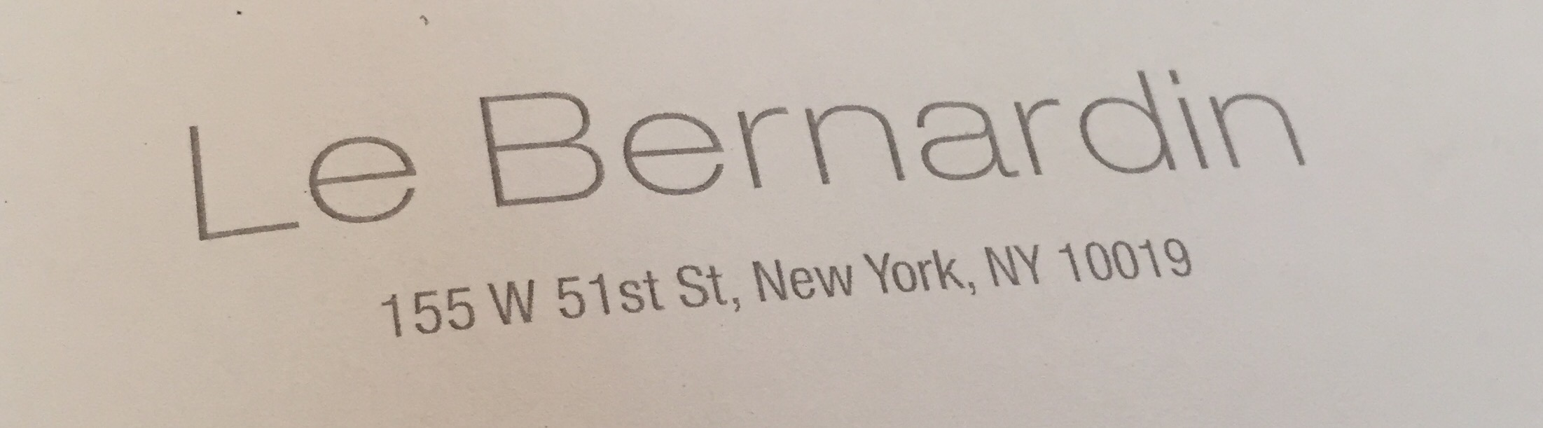 Le Bernardin for lunch