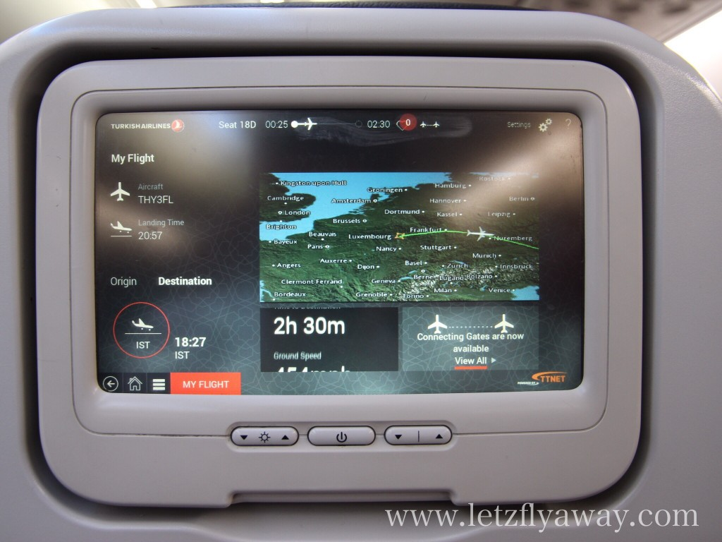 Turkish Airlines Economy Class Screen