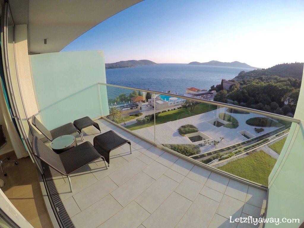 Radisson Blu Dubrovnik Sun Gardens balcony with sea view