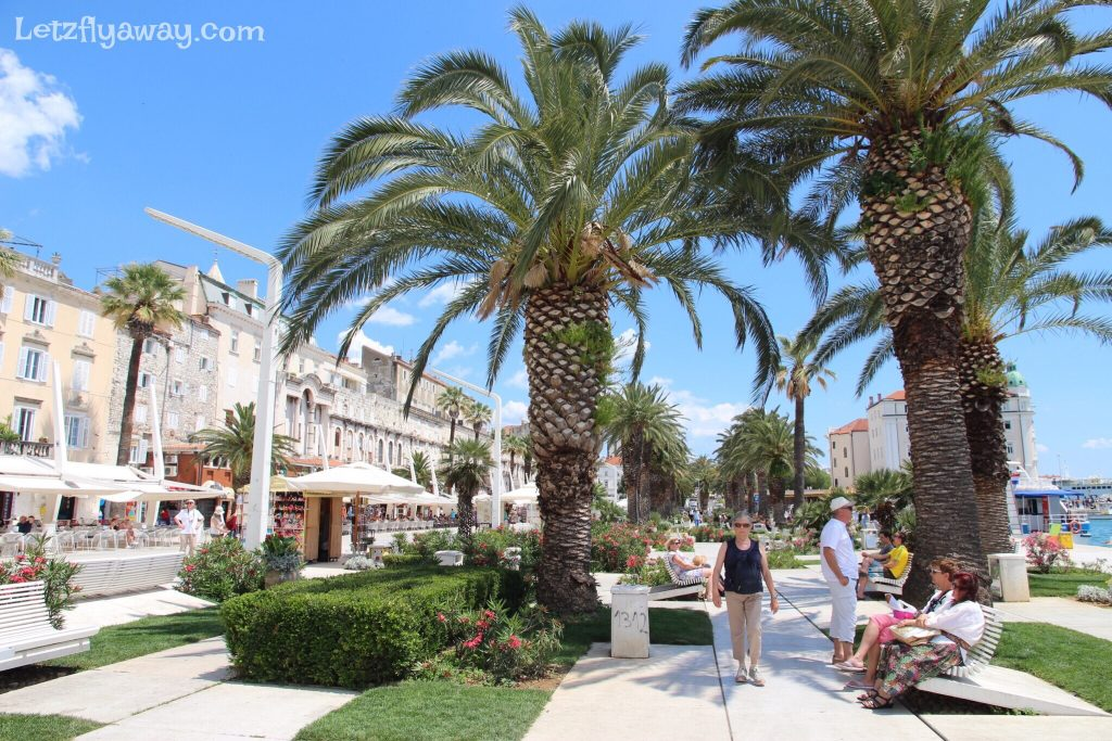 SPlit Riva Promenade and Cafes