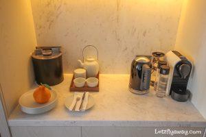 Four Seasons Hotel Seoul In room nespresso coffee and tea maker