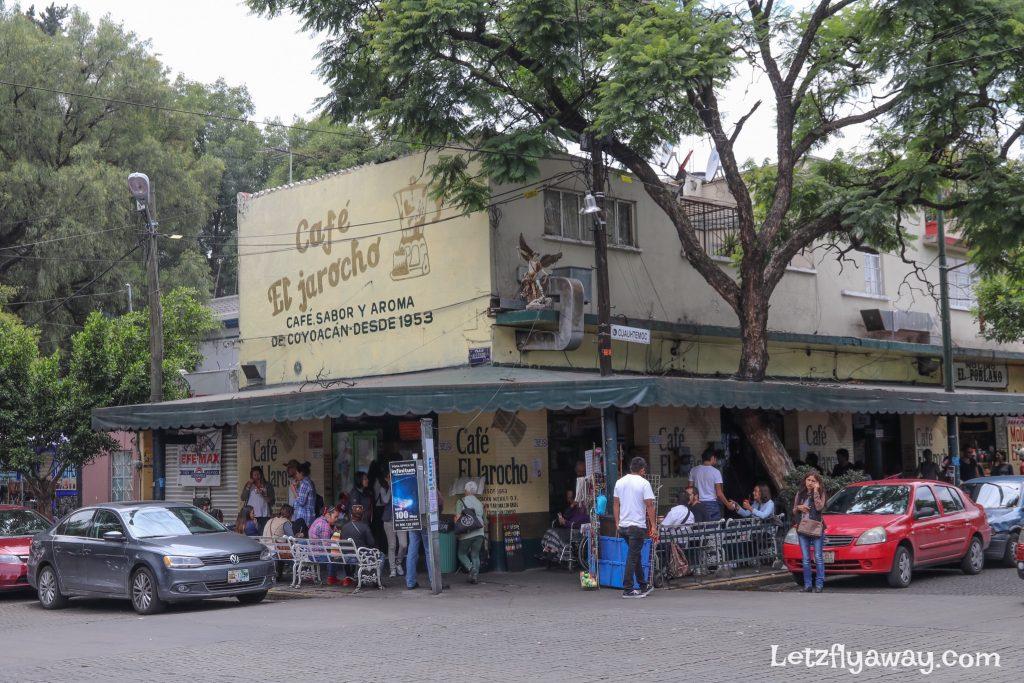 Coyoacan neighborhood cafe