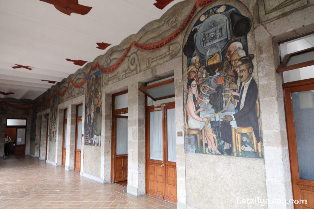 Diego rivera murals at Secretaria de Educacion Publica