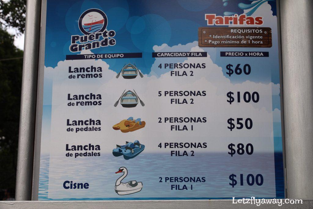 Boat ride rates chapultepec