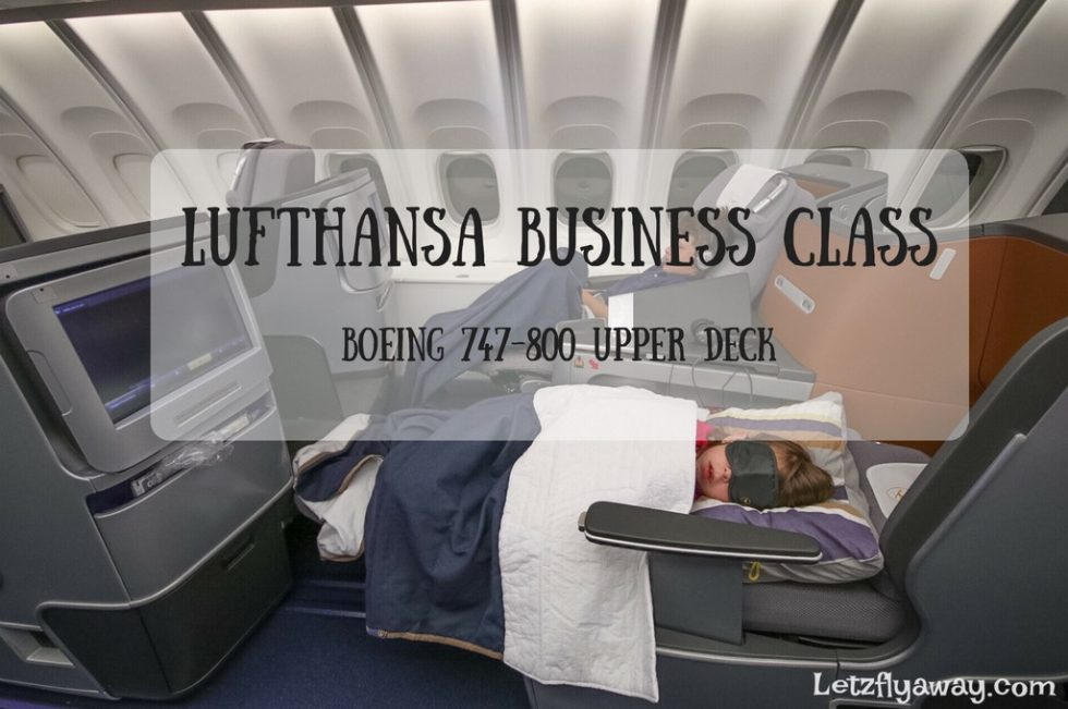 Lufthansa Business Class Boeing 747-800 Upper Deck