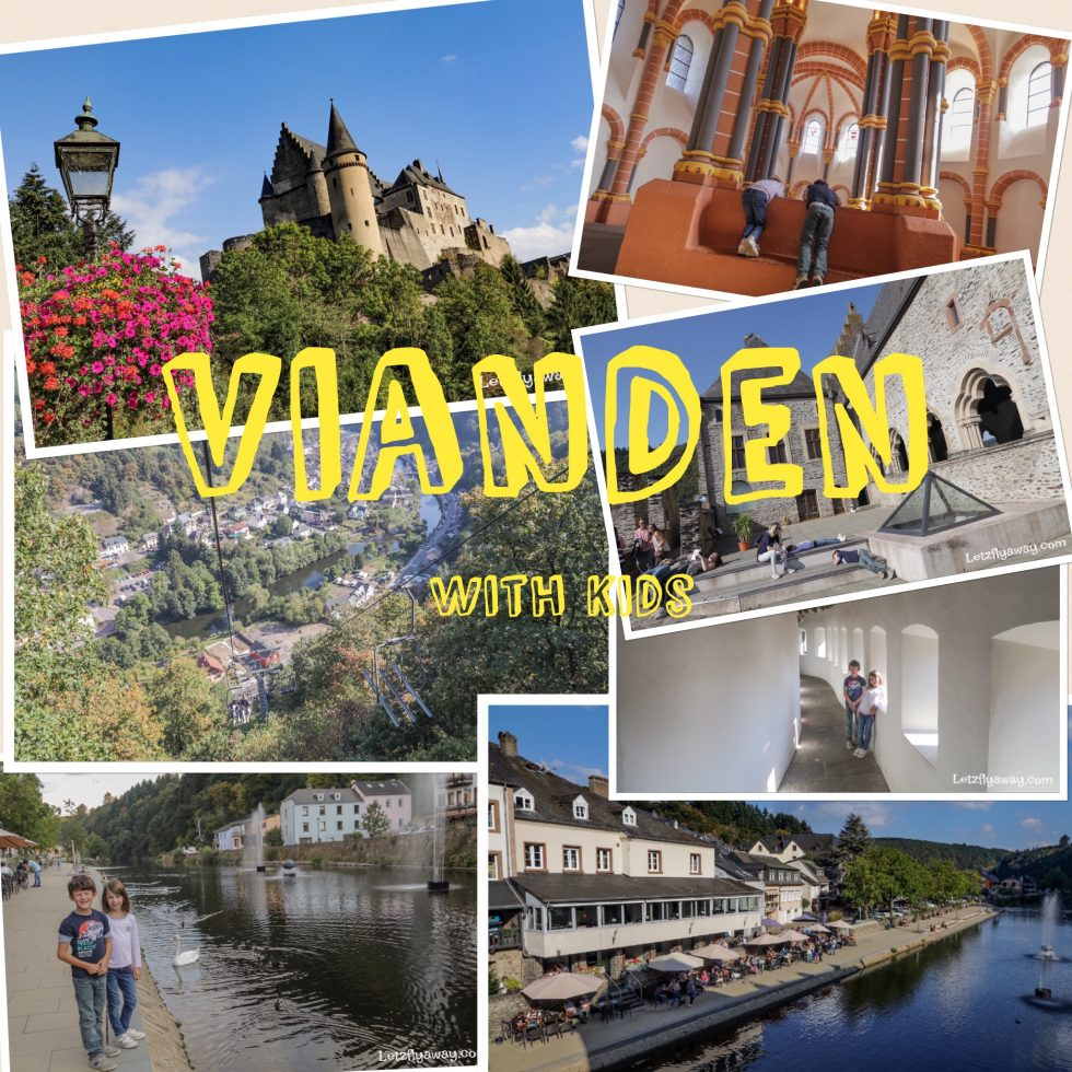 Vianden castle with kids