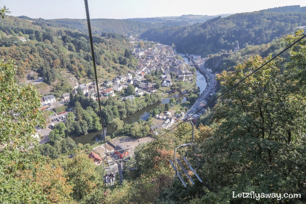 View of vianden from the chairlift