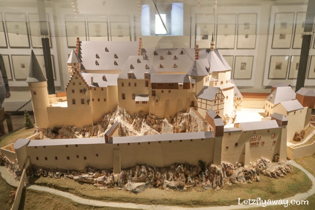 Vianden castle model