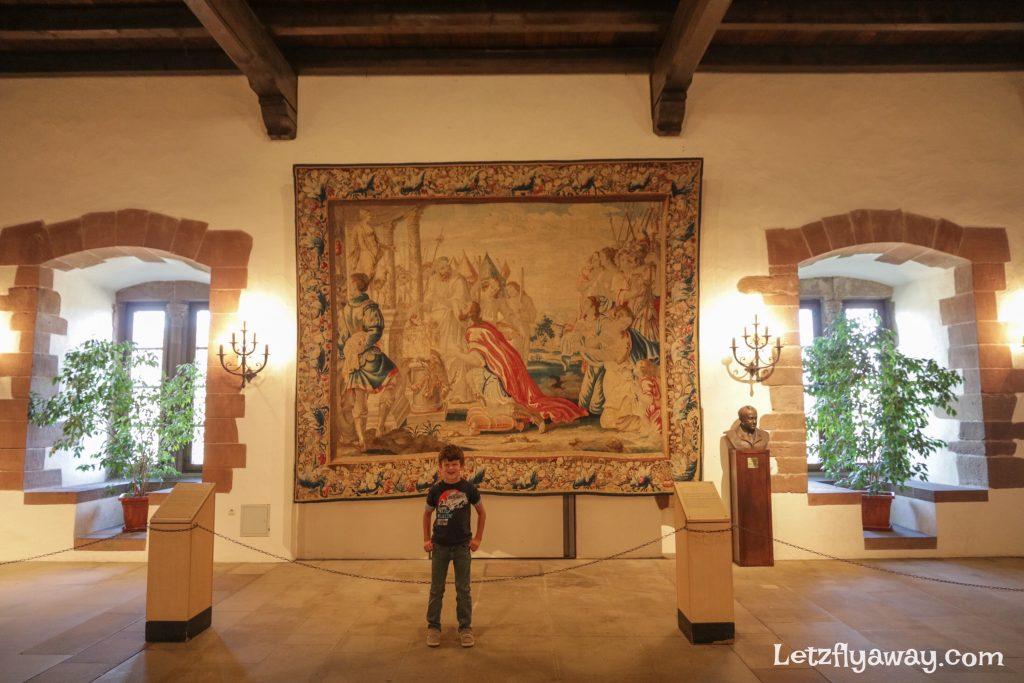 Vianden castle tapestry