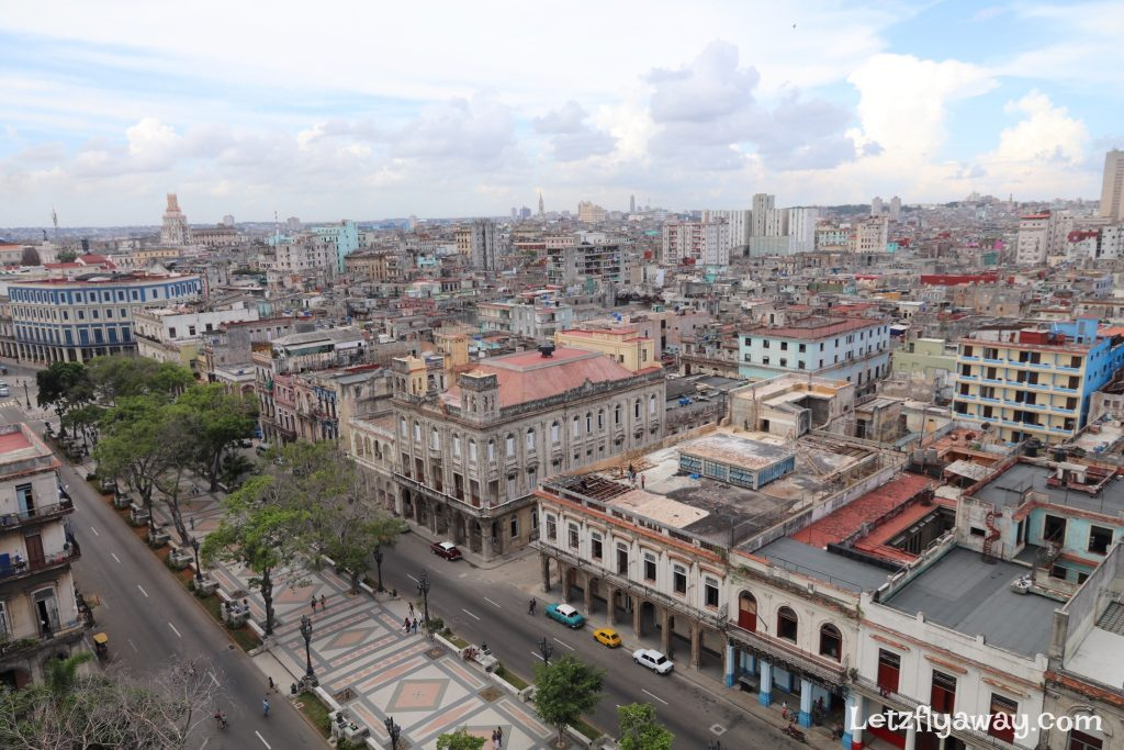 Hotel Mercure Sevilla Havana Cuba Paseo de la reforma view