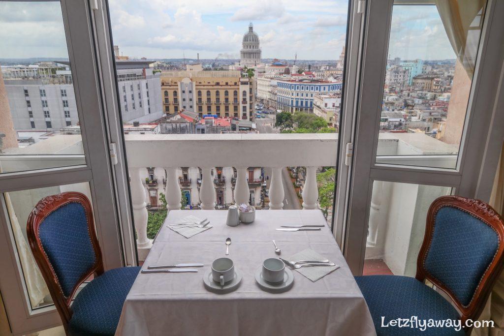 Hotel Mercure Sevilla Havana Cuba restaurant view