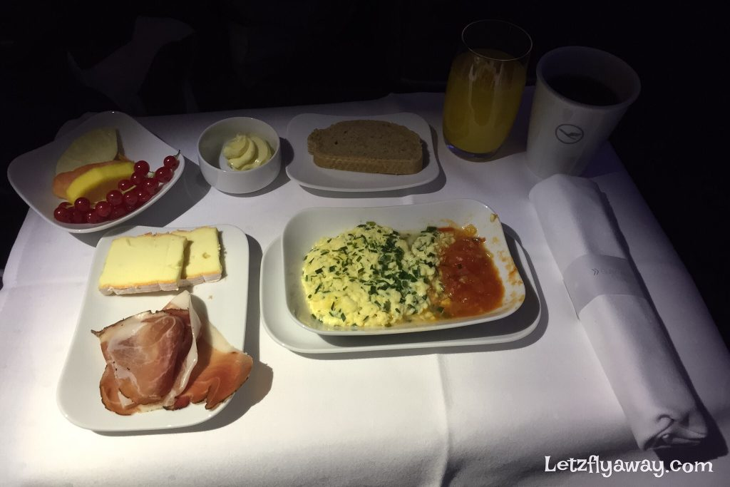 Lufthansa Business Class Breakfast