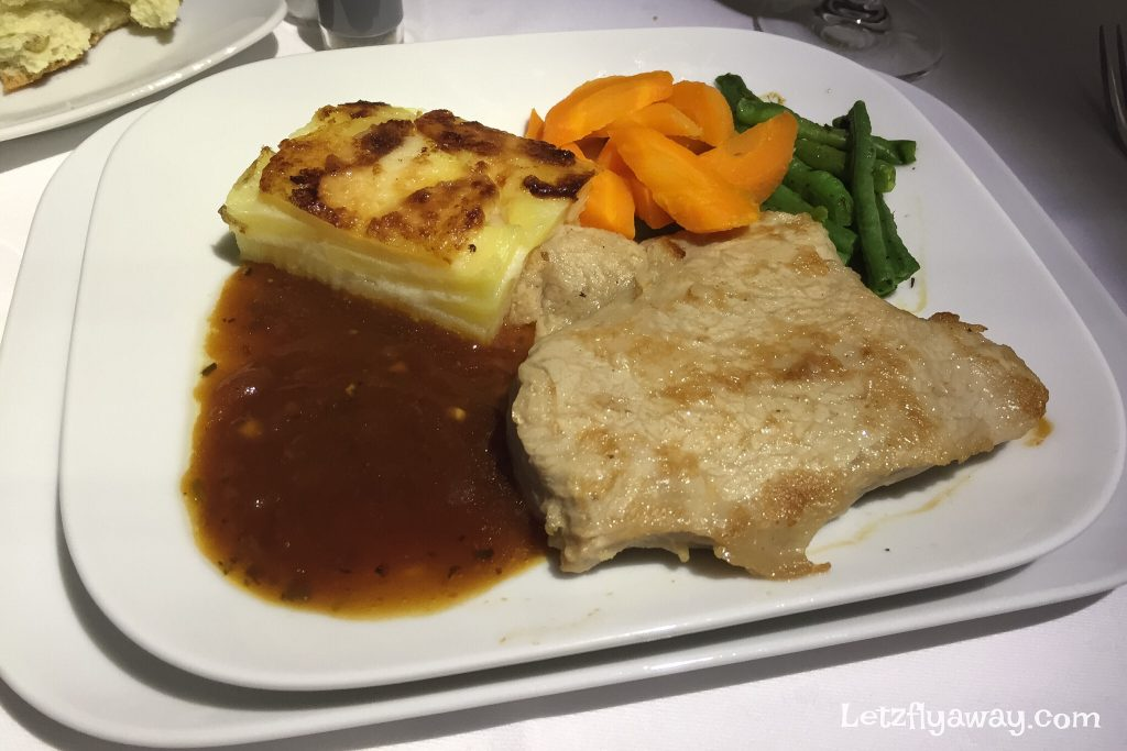 Lufthansa Business Class Boeing 747-8 Food