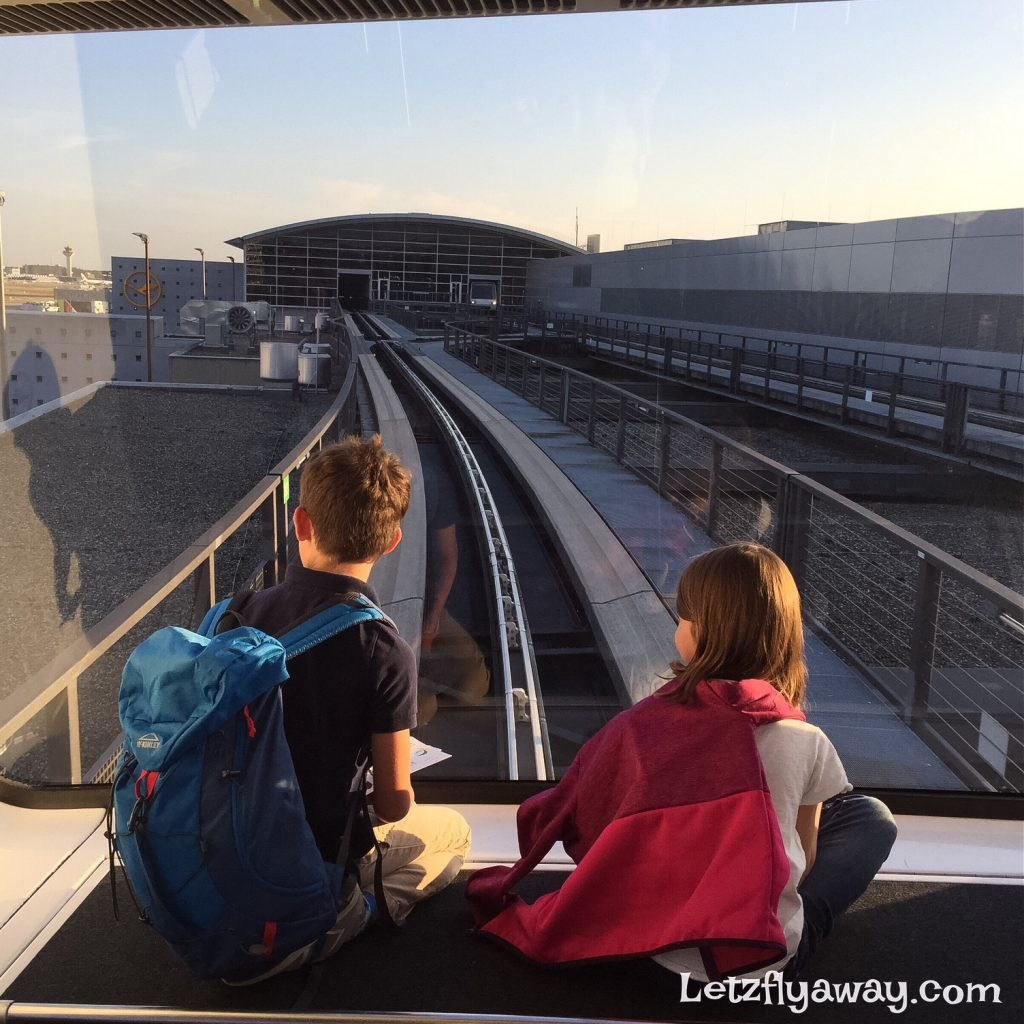 Frankfurt Airport Skytrain with kids