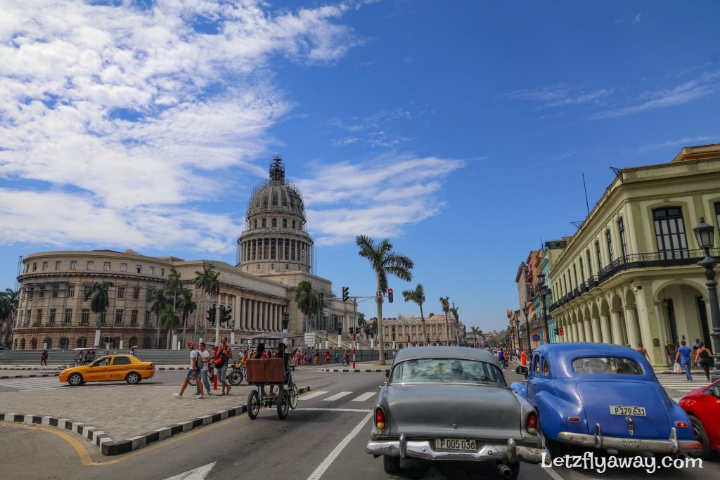 typical havana cuba street scene