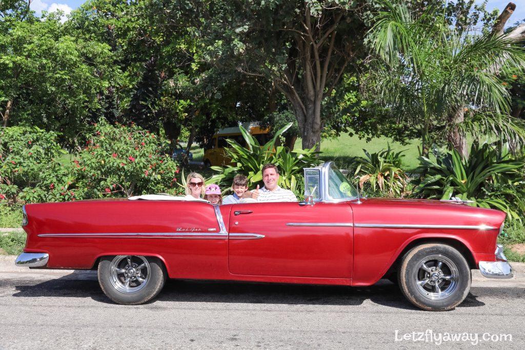 havana cuba in old car