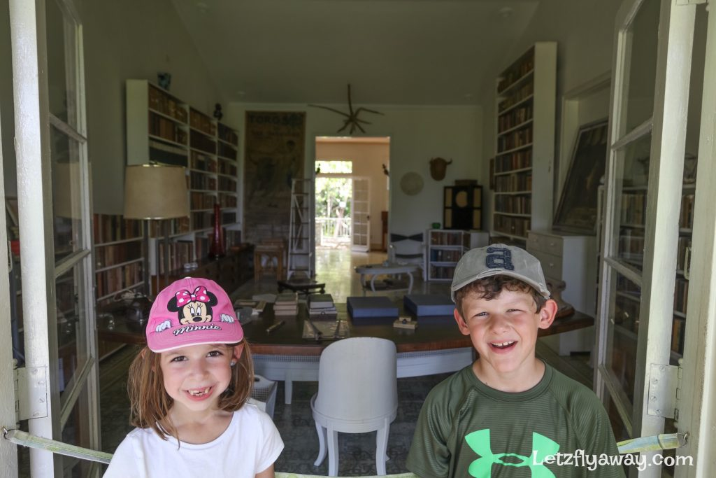 Havana with Kids finca vigia ernest hemingway office
