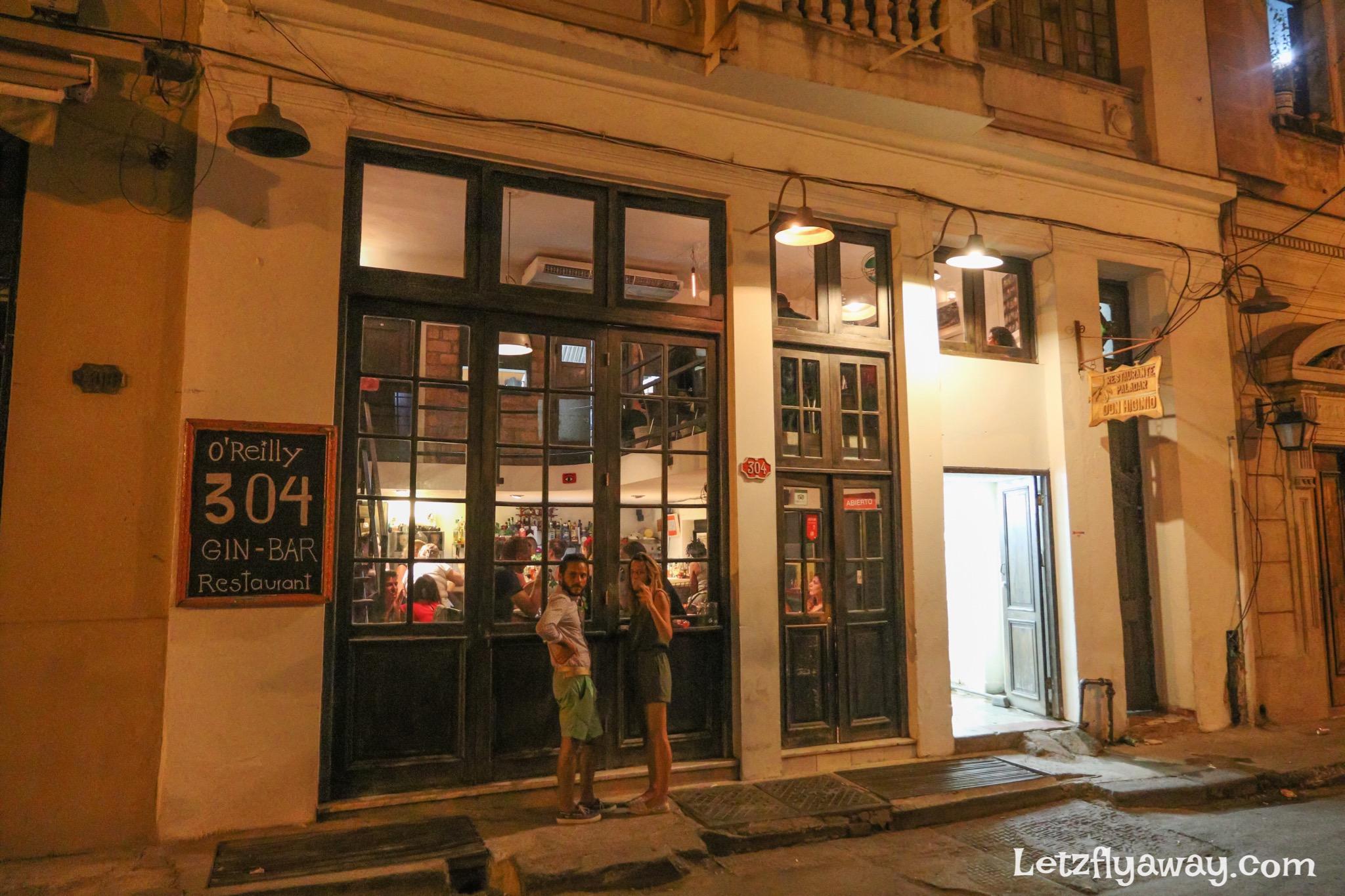 Havana Cuba O Reilly 304 Bar Restaurant