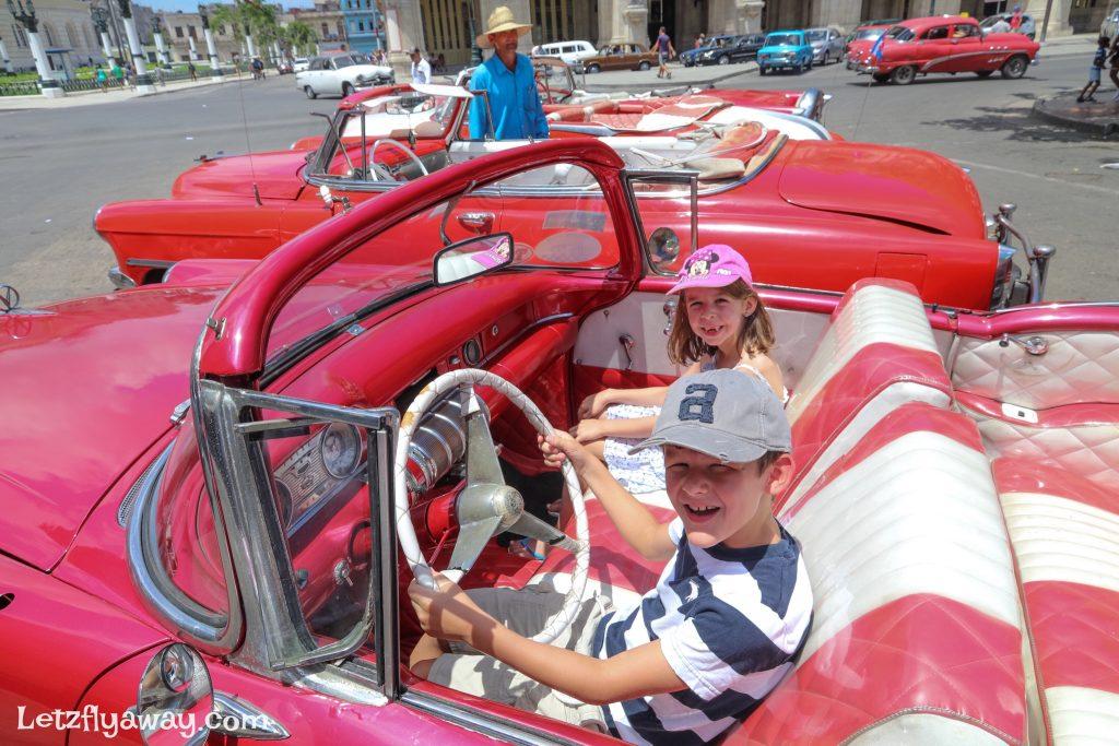 kids old car havana