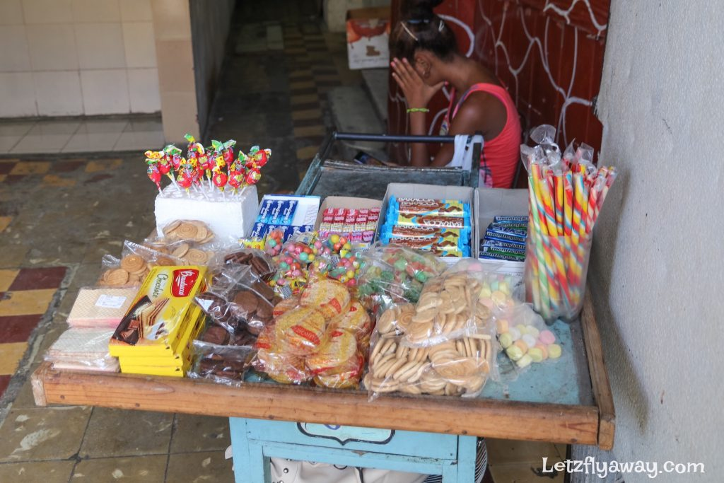 street vendor in havana