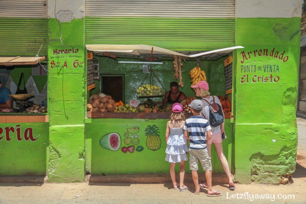 fruit and vegetable seller in havana