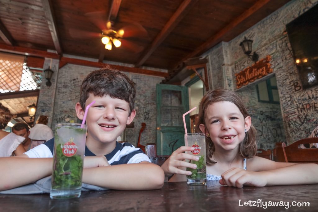 mojito without alcohol for kids at bodeguita del media