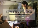 Etihad Business Class Champagne Service