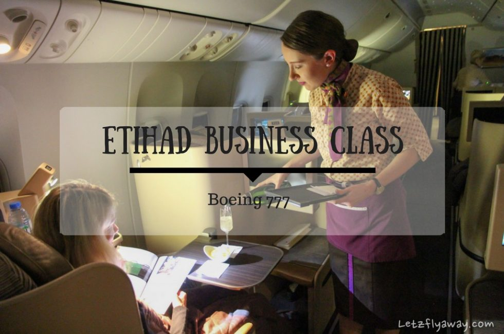 Etihad Business Class Champagne Service