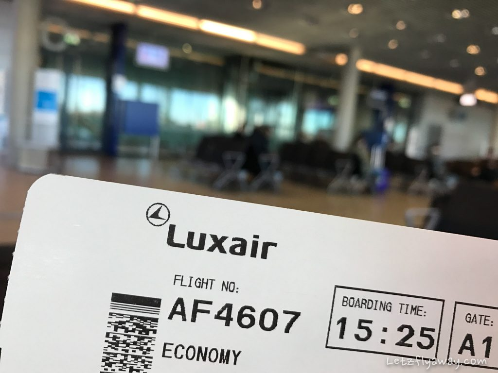 luxair flight to paris by selectour afat