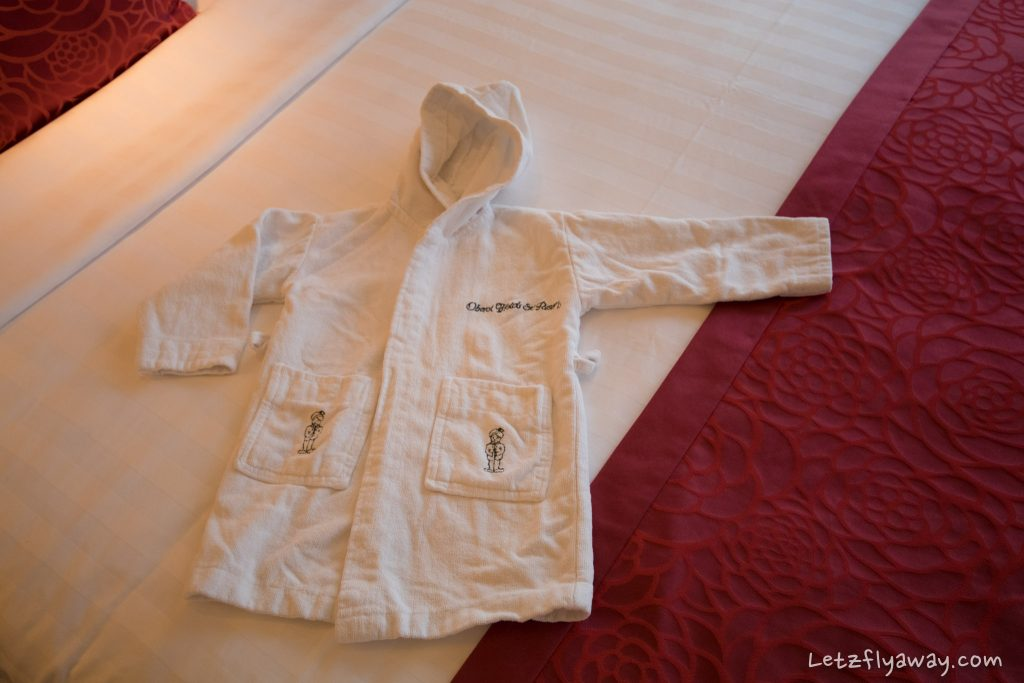 The Oberoi Dubai kids bathrobe