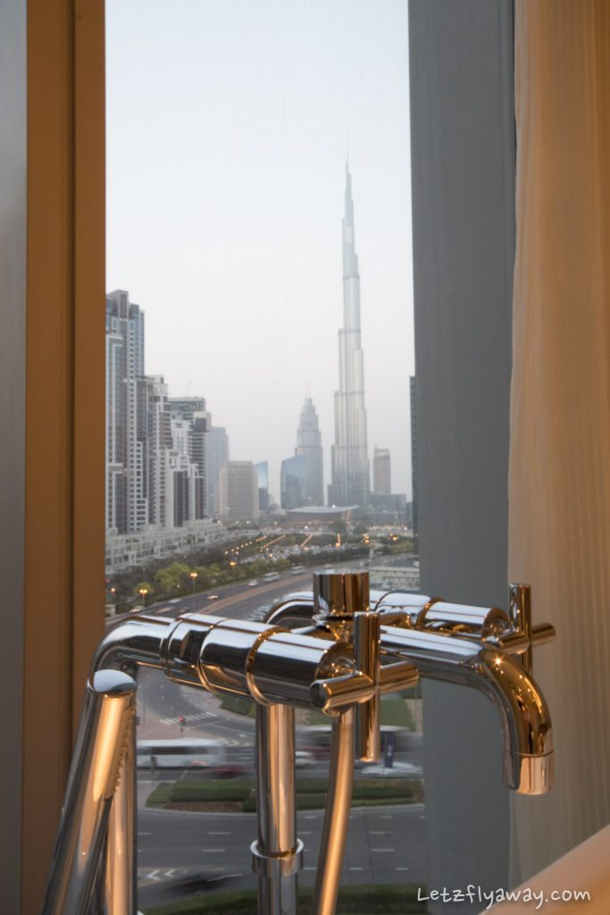 The Oberoi Dubai burj khalifa view