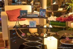 The Oberoi Dubai personalised welcome chocolates with logo