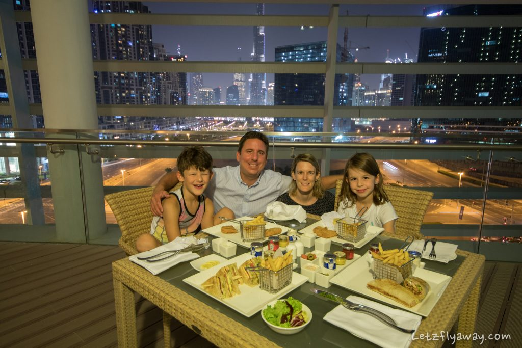 The Oberoi Dubai family dinner