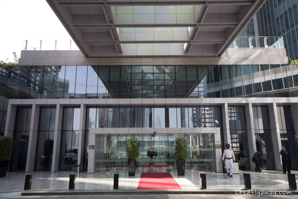 The Oberoi Dubai front entrance