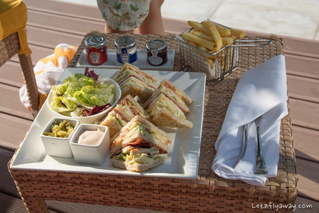 The Oberoi Dubai club sandwich