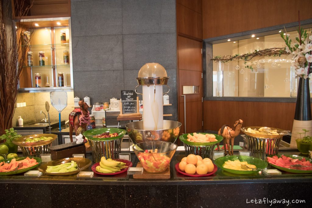 The Oberoi Dubai breakfast buffet fruits at nine7one