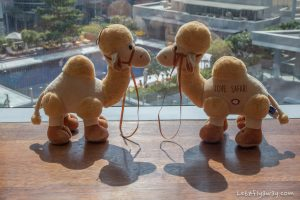 The Oberoi Dubai camel departing gift for kids