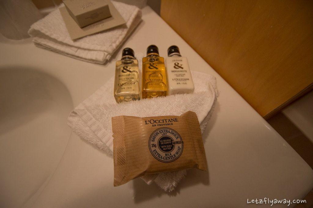 Saint James Albany Paris Hotel bathroom amenities L'occitane
