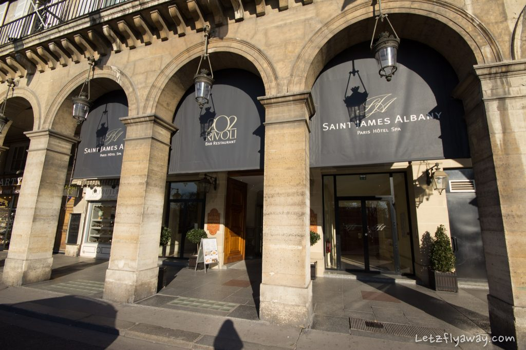 Saint James Albany Paris Hotel entrance rue de rivoli