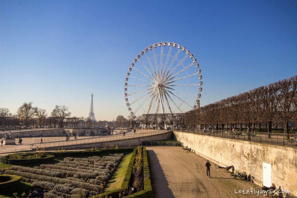 tour eiffel, jardin des tuileries and grande roue de paris 2016