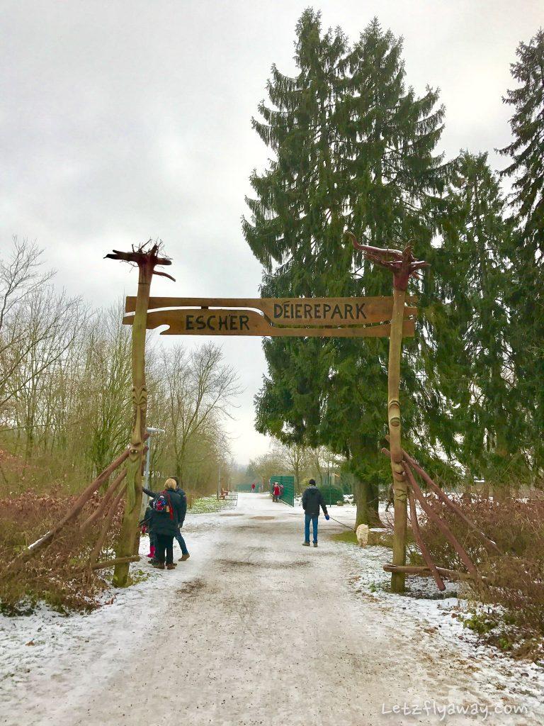 Déierepark Esch Gaalgebierg entrance