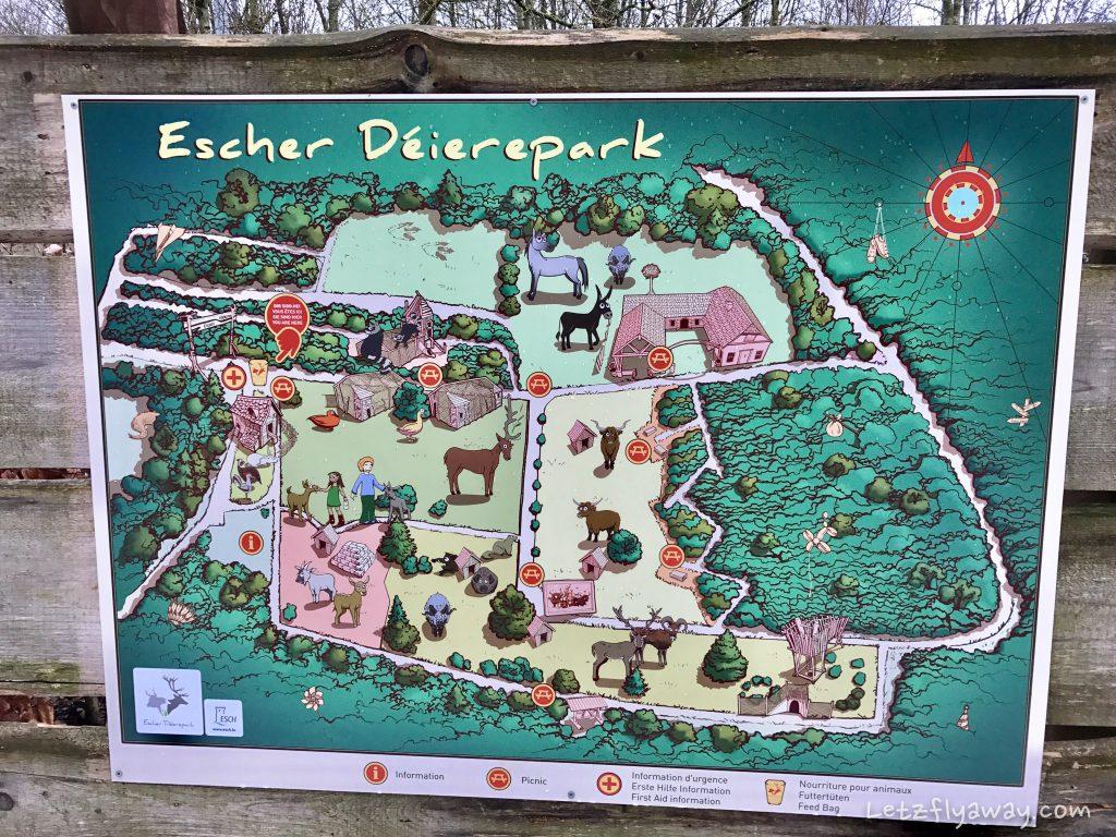 Déierepark Esch Gaalgebierg map