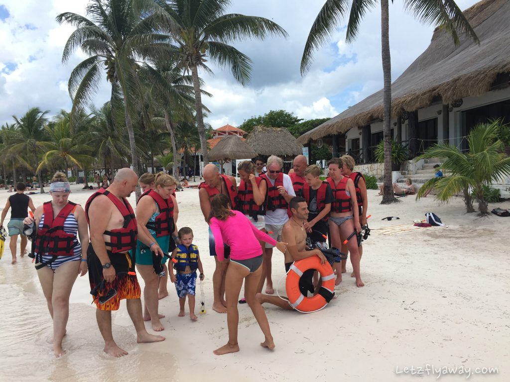 Playa del Carmen with Kids Akumal turtle beach group snorkeling