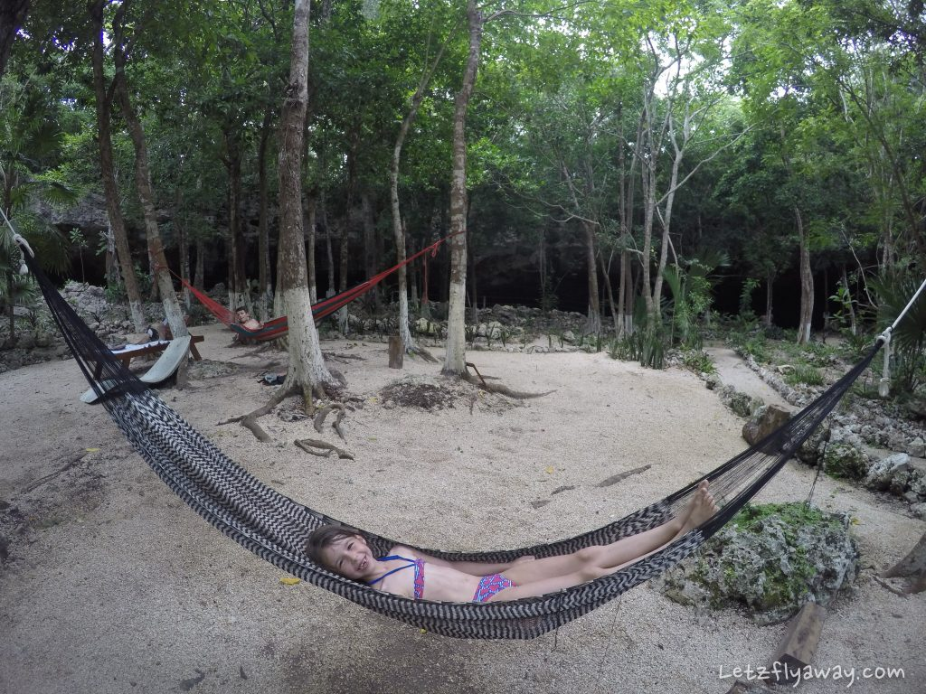 Playa del Carmen with Kids cenote dos ojos hammock chilling