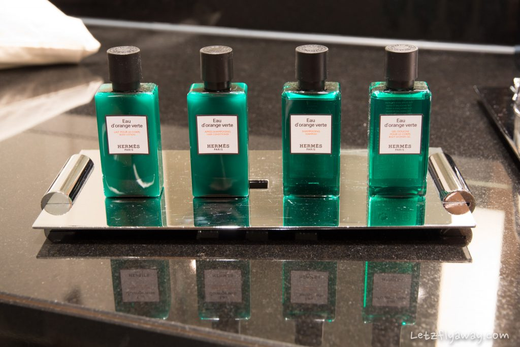 Sofitel Le Grand Ducal Hermes bathroom amenities