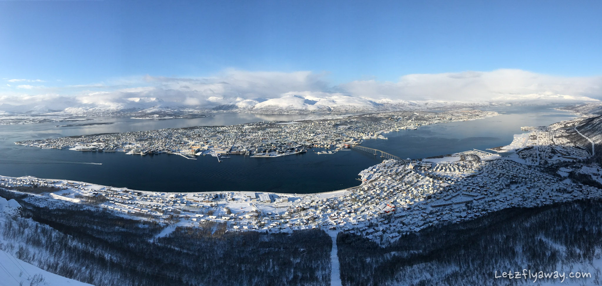 Tromso view from Fjellheisen cable car