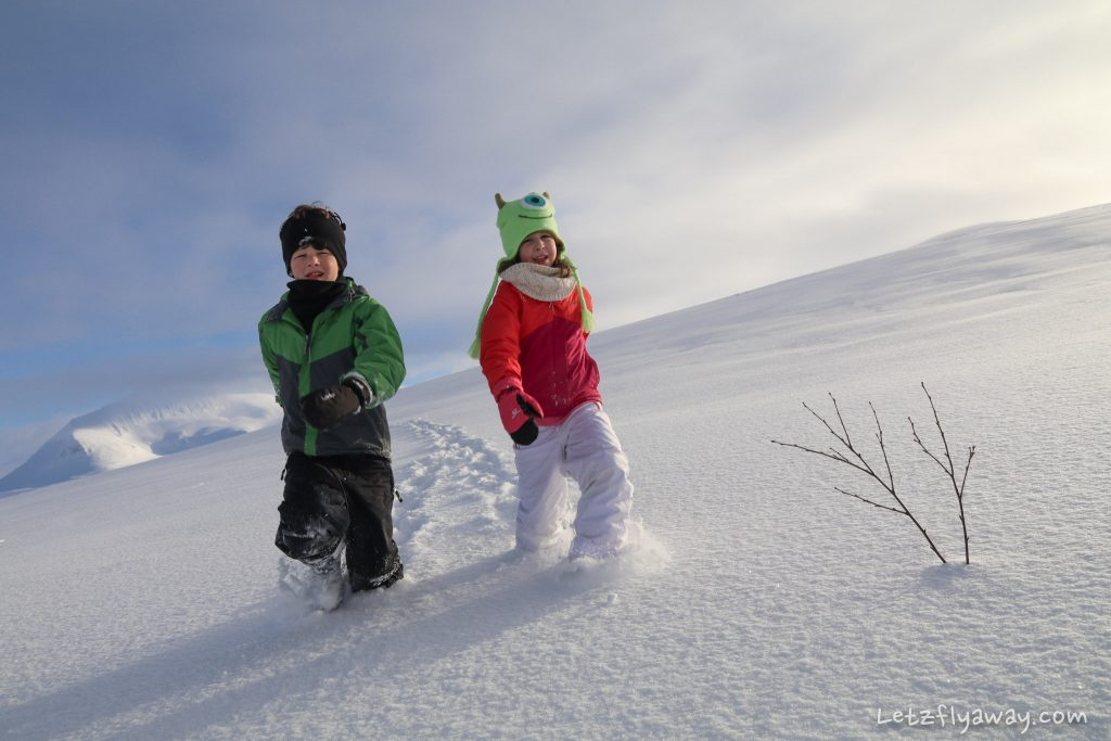 tromso kids in winter