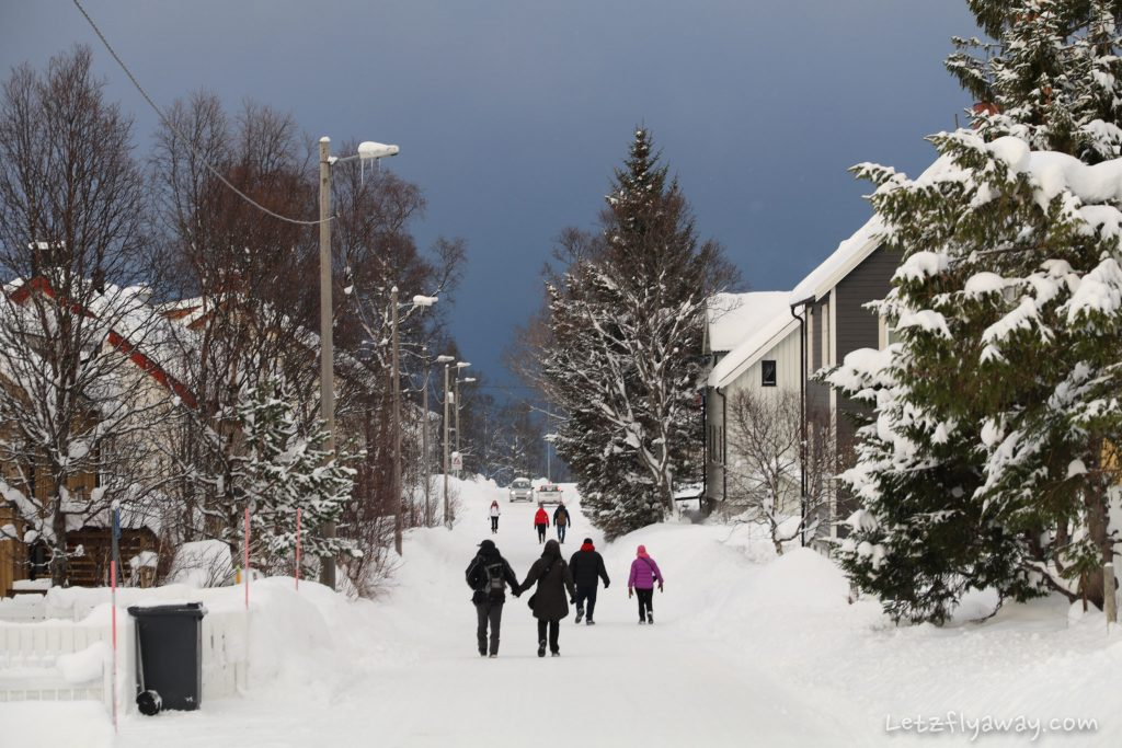 tromso winter streets