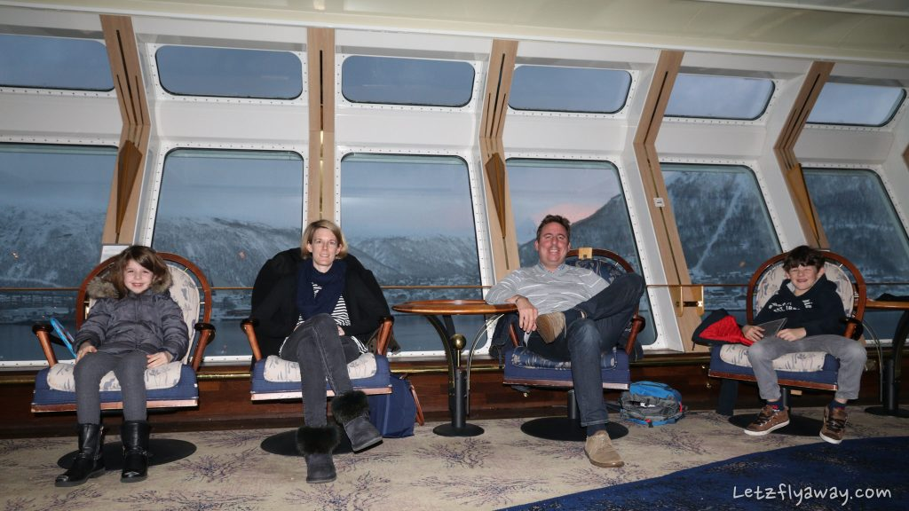 Hurtigruten in Tromso harbor
