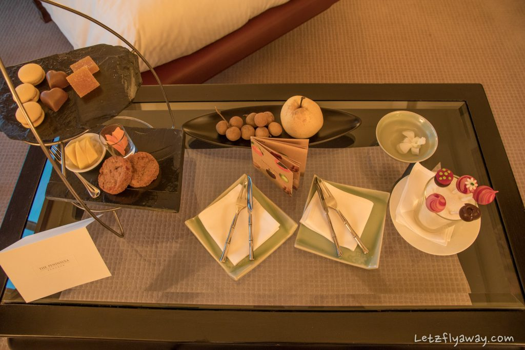 Peninsula Bangkok welcome gifts